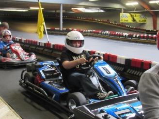 Daniel Demaras getting ready in the pits.