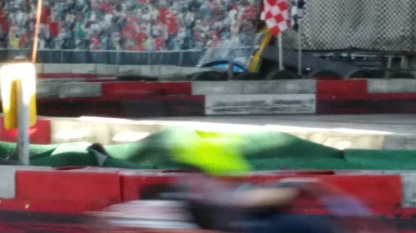 Daniel was a just a fluourecent yellow blur on track.
