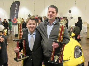 Phil from Laird Auto Body, Daniel's sponsor, was present at the awards banquet.