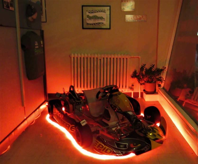 A fiery display for the new kart