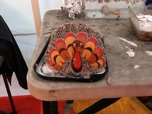 Ice cream turkey