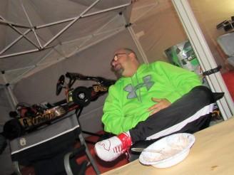 Chris relaxes